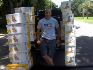 Sgt Schofield and Alpha House Diaper Give Away