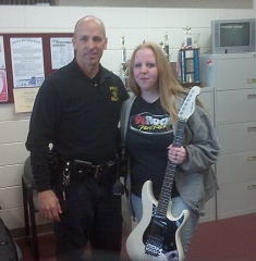 Sgt Schofield and Kaitlin Duncan