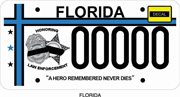 Fallen Law Enforcement Officer Plate Pinellas Park High School