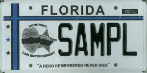 Operation 10-24 Florida License Plate